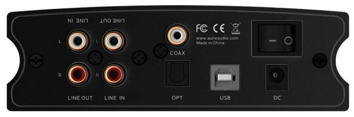 AUNE X1S PRO back panel input